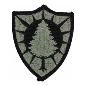 Maine National Guard Headquarters Patch Foliage Green (Velcro Backed)