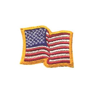 American Flag Patch (Wavy Gold Border)