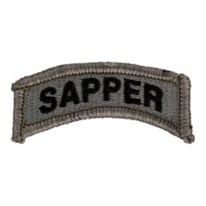 Sapper Leader Course Tab Patch Foliage Green (Velcro Backed)