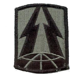 335th Signal Brigade Patch Foliage Green (Velcro Backed)