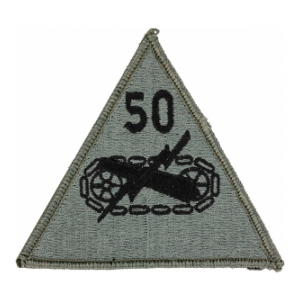 50th Armored Division Patch Foliage Green (Velcro Backed)