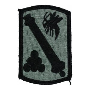 113th Field Artillery Brigade Patch Foliage Green (Velcro Backed)