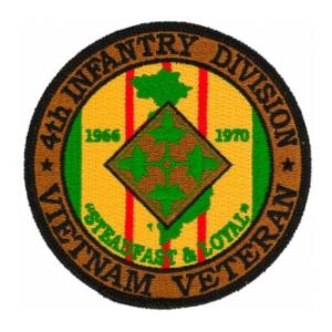 4th Infantry Division Vietnam Veteran Patch Flying