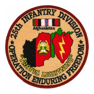 "25th Infantry Division Operation Enduring Freedom Patch ""Tropic Lightning"