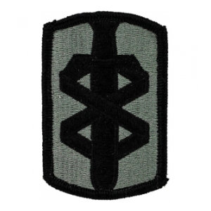 18th Medical Brigade Patch Foliage Green (Velcro Backed)