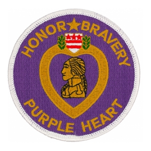 Purple Heart Honor Bravery Patch