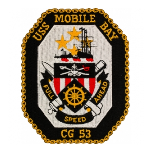 USS Mobile Bay CG-53 Ship Patch