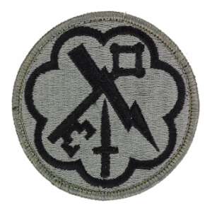 207th Military Intelligence Brigade Patch Foliage Green (Velcro Backed)