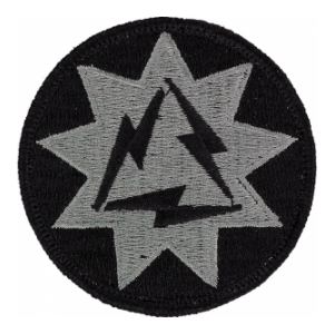 93rd Signal Brigade Patch Foliage Green (Velcro Backed)