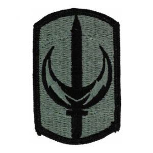 228th Signal Brigade Patch Foliage Green (Velcro Backed)