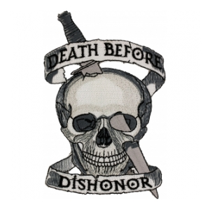 USMC Death Before Dishonor Skull Patch