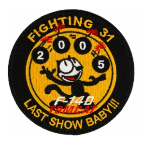 Navy Fighter SquadronVF-31 (Last Show Baby) F-14 Tomcat Patch