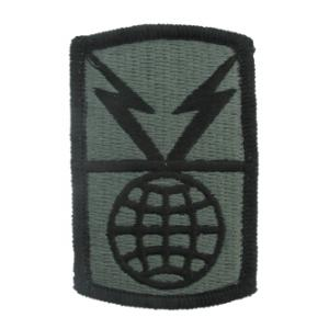 1108st Signal Brigade Patch Foliage Green (Velcro Backed)