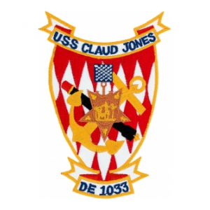 USS Claud Jones DE-1033 Ship Patch