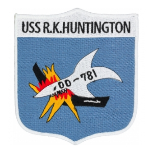 USS R. K. Huntington DD-781 Ship Patch