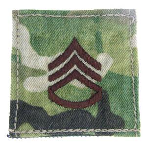 Army Staff Sergeant with Velcro Backing (Multicam)