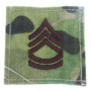 Army Sergeant First Class with Velcro Backing (Multicam)