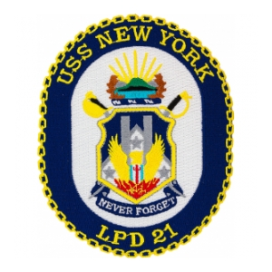 USS New York LPD-21 Ship Patch