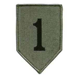 1st Infantry Division Patch Foliage Green (Velcro Backed)