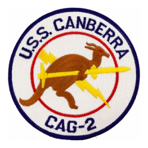 Navy Carrier Air Group Patch USS Canberra CAG-2 Patch