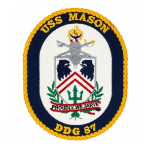 USS Mason DDG-87 Ship Patch