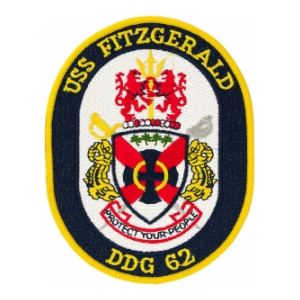 USS Fitzgerald DDG-62 Ship Patch