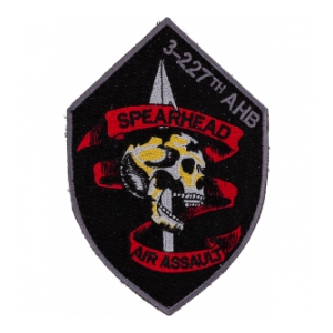 3rd Battalion 227th AHB Spearhead Air Assault Patch (Black and Red) Velcro Backed