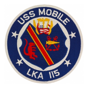 USS Mobile LKA-115 Ship Patch