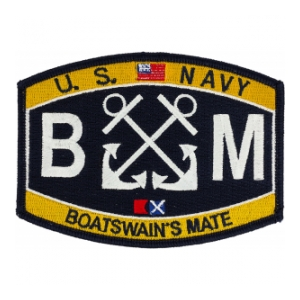 USN RATE BM Boatswains Mate Patch