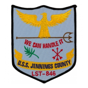 USS Jennings County LST-846 Ship Patch