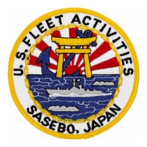 Fleet Activites Sasebo Japan Patch
