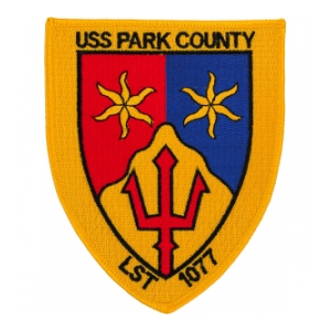 USS Park County LST-1077 Ship Patch