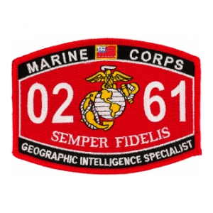 USMC MOS 0261 Geographic Intelligence Specialist Patch