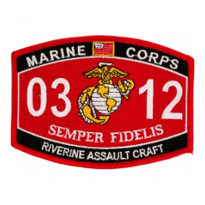 USMC MOS 0312 Riverine Assault Craft Patch