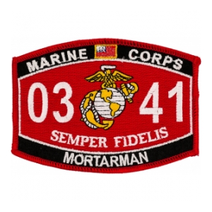 USMC MOS 0341 Mortarman Patch