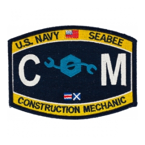 USN RATE Seabee CM Construction Mechanic Patch