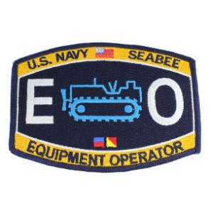 USN RATE Seabee EO Equipment Operator Patch
