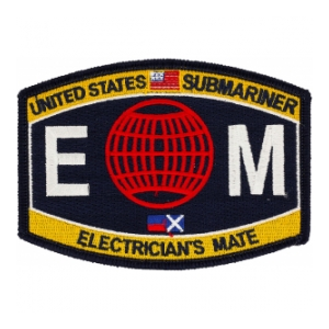 USN RATE Submariner EM Electrician's Mate Patch