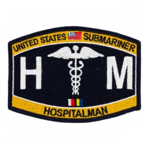 USN RATE Submariner HM Hospitalman Patch