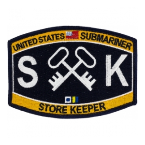 USN RATE Submariner SK Store Keeper Patch