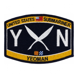 USN RATE Submariner YN Yeoman Patch