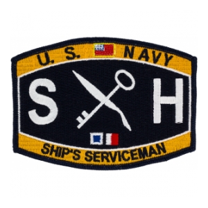 USN RATE SH Ship's Serviceman Patch