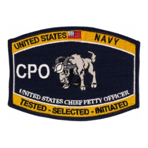 USN RATE CPO Chief Petty Officer Patch