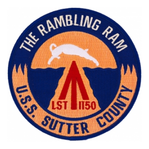 USS Sutter County LST-1150 Ship Patch