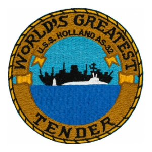 USS Holland AS-32 Ship Patch
