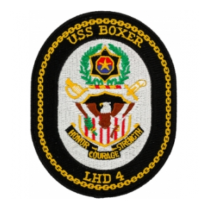 USS Boxer LHD-4 Ship Patch