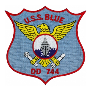 USS Blue DD-744 Ship Patch