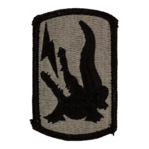 227th Field Artillery Brigade Patch Foliage Green (Velcro Backed)