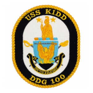 USS Kidd DDG-100 Ship Patch
