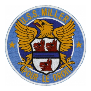 USS Miller DD-535 Ship Patch